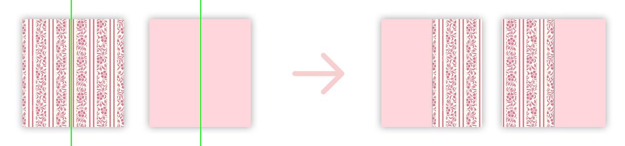 Шторы из двух тканей
